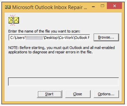 folders opened error in outlook
